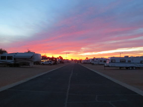 Arizona Sunset - Cotton Lane RV Resort