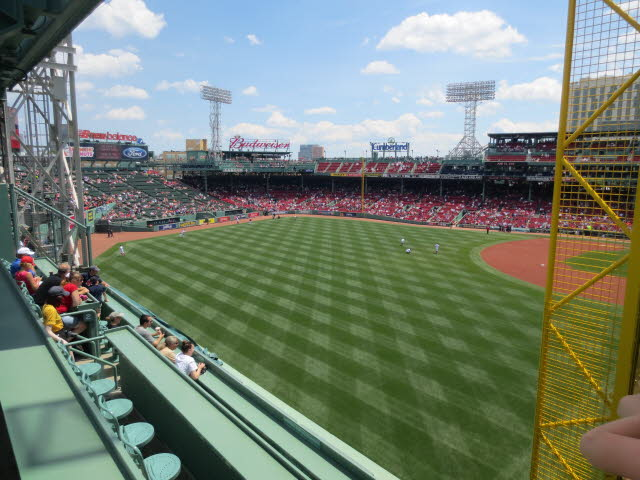 Boston Fenway Park top of Green Monster