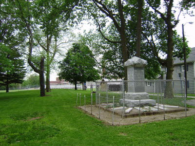 Chief Kokomo Grave Site looking towards Apperson Way