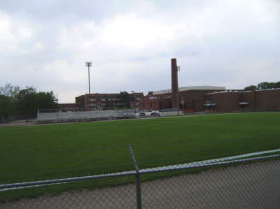 Looking Across Kautz Field at Old Kokomo HS