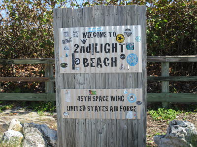 PAFB Beach sign