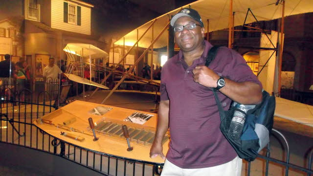 Rob with Wright Bros Flyer